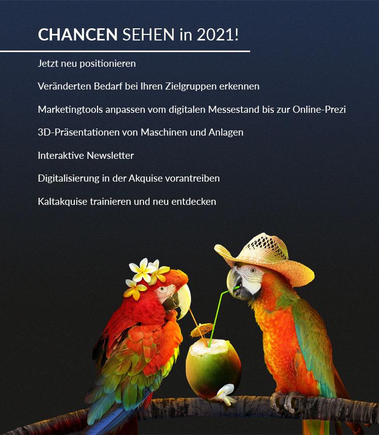 Werbeagentur Siekmann | Chancen sehen in 2021