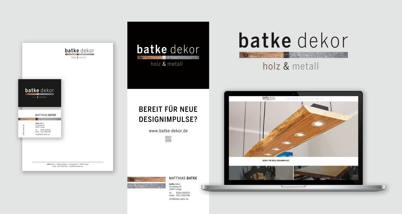 Corporate Design | batke dekor | Werbeagentur Siekmann