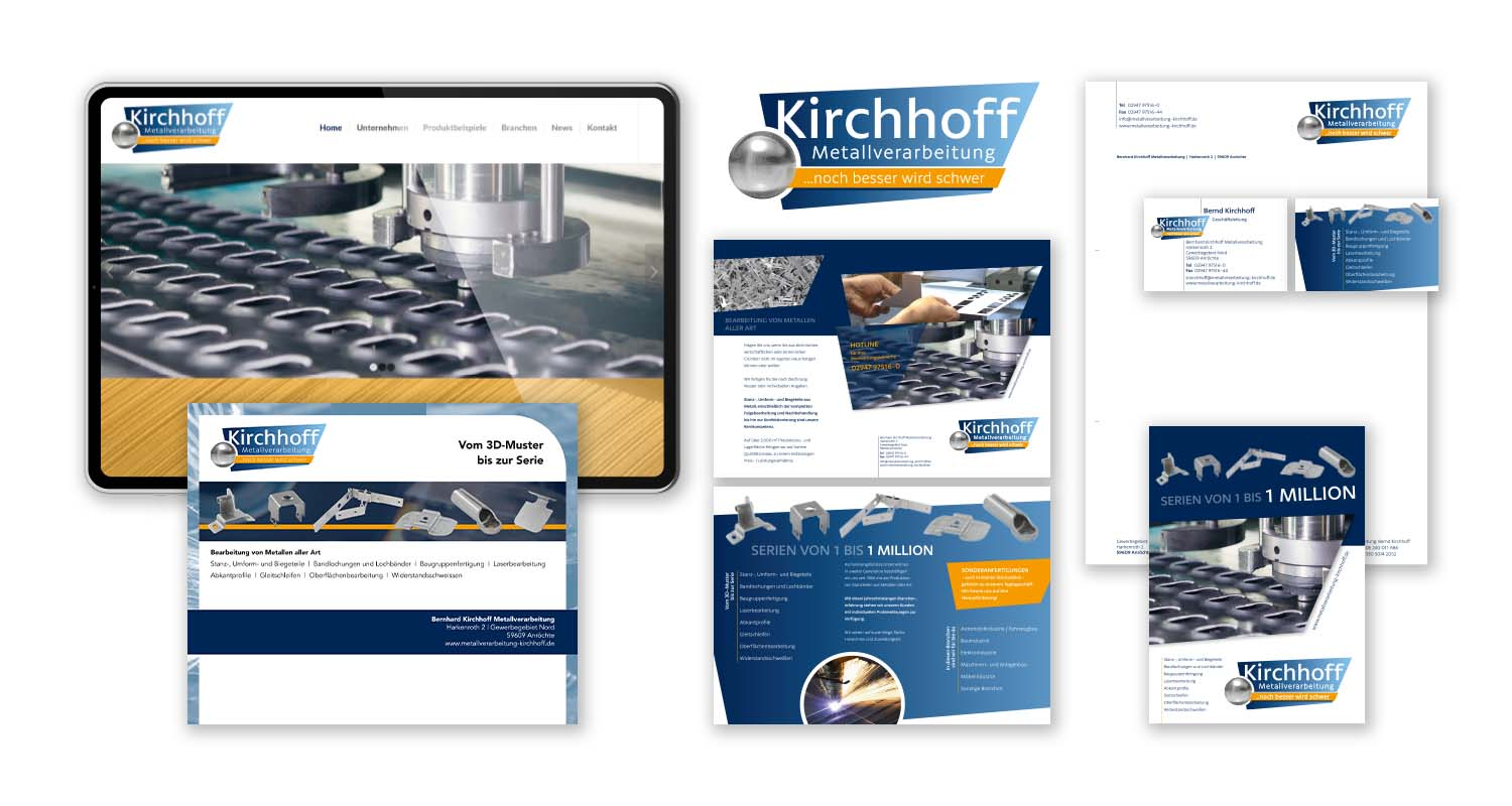Corporate Design | Kirchhoff Metallverarbeitung | Werbeagentur Siekmann
