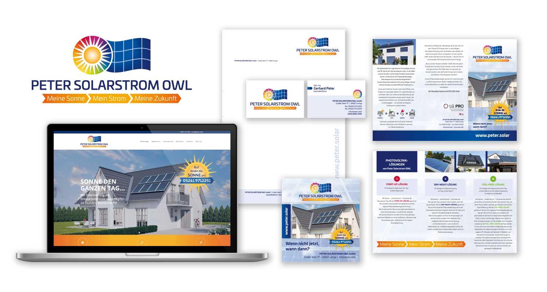 Corporate Design | Peter Solarstrom OWL | Werbeagentur Siekmann
