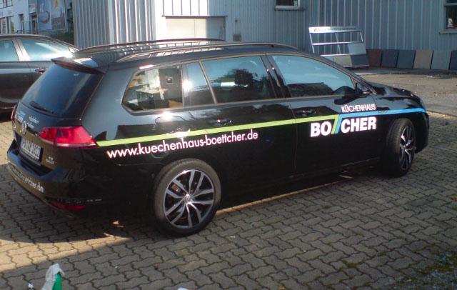 Fahrzeugbeschriftung | Küchenhaus Böttcher | Werbeagentur Siekmann