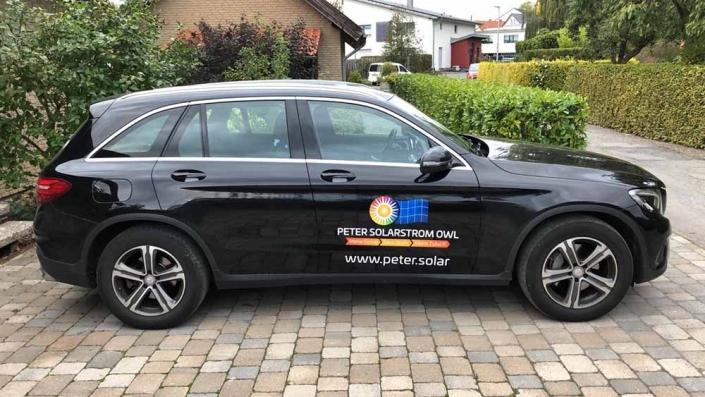 Fahrzeugbeschriftung | Peter Solarstrom OWL | Werbeagentur Siekmann