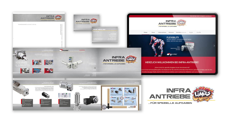 Neupositionierung   Infra-Antriebe   Werbeagentur Siekmann