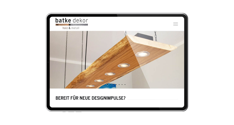 Web | batke dekor | Werbeagentur Siekmann