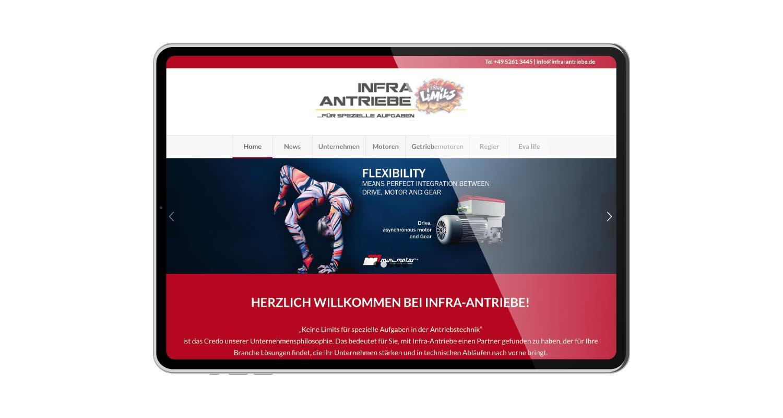 Web | Infra-Antriebe | Werbeagentur Siekmann