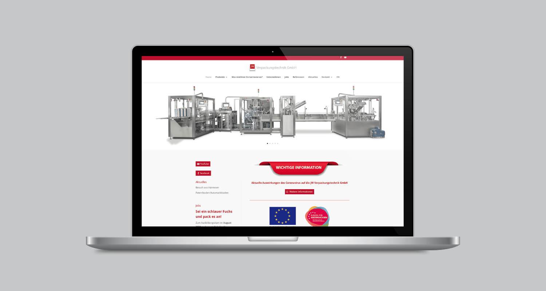 Web | JW Verpackungstechnik | Werbeagentur Siekmann