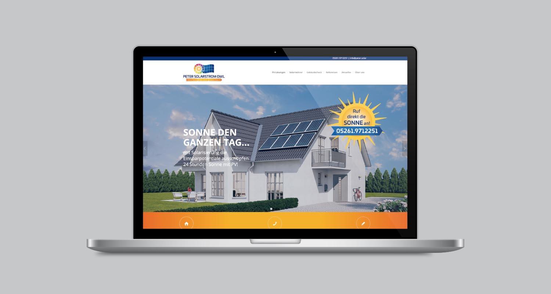 Web | Peter Solarstrom OWL | Werbeagentur Siekmann