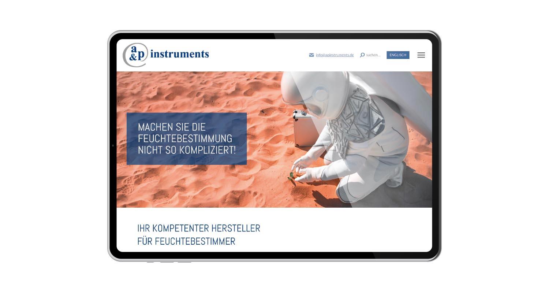 Web | a&p instruments | Werbeagentur Siekmann